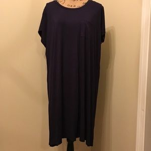 NWT Pixley Navy t-shirt swing dress. Size 3X